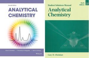 چاپ هفتم کتاب شیمی تجزیه کریستین بهمراه چاپ ششم حل المسائل آن